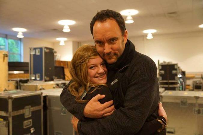 Rachael Murray with Dave Matthews, May 2013