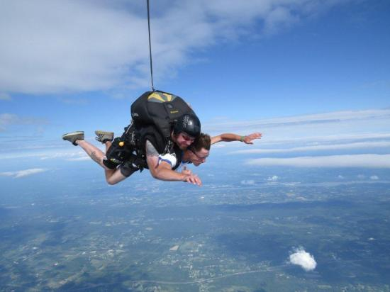 Wish Jumper and former wish child Matt Dydych at Wish Jump 2014. 13,500 feet.